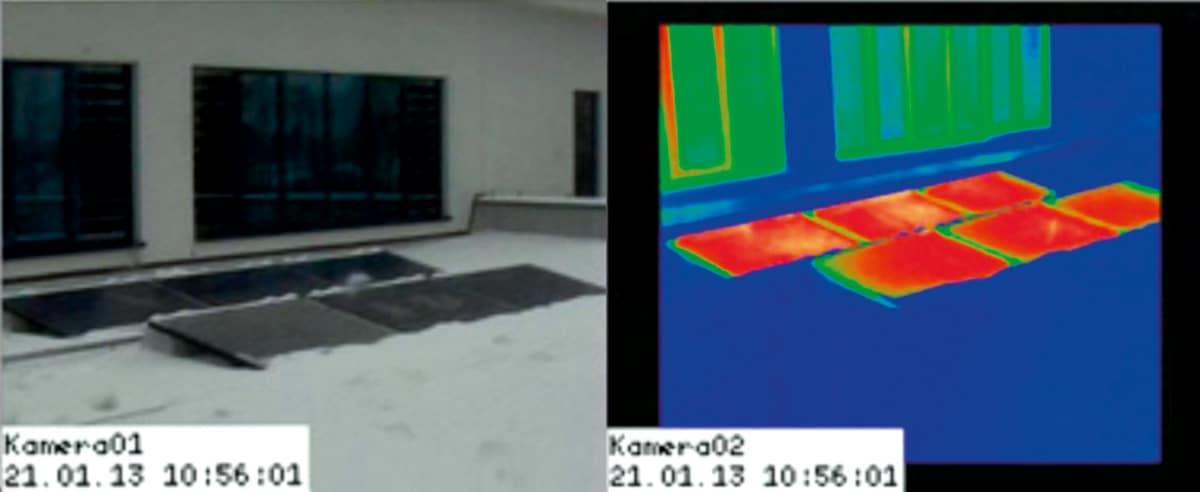 Widok modułów NoFrost z kamery termowizyjnej