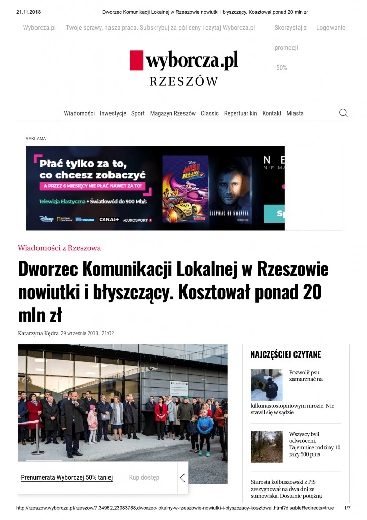 Dworzec Komunikacji Lokalnej w Rzeszowie nowiutki i błyszczący-1