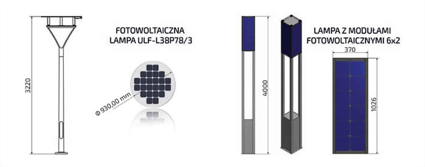 Lampa-Fotowoltaiczna-Rysunek-Techniczny