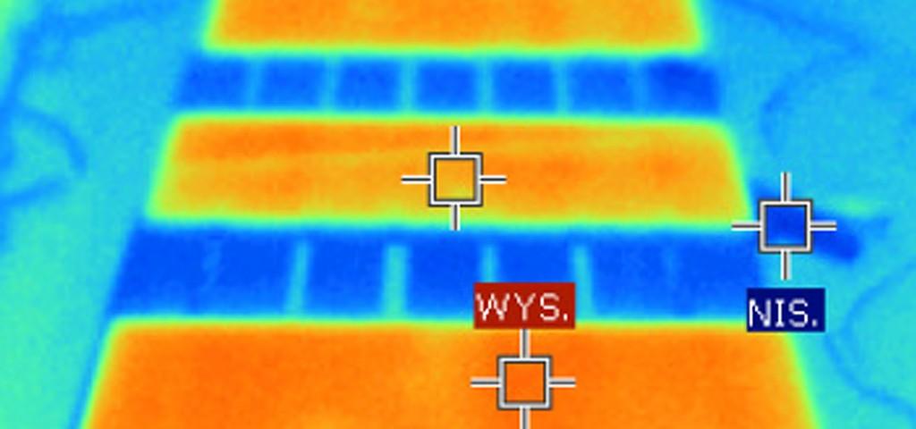 Szkło, które daje ciepło - widok z kamery termowizyjnej