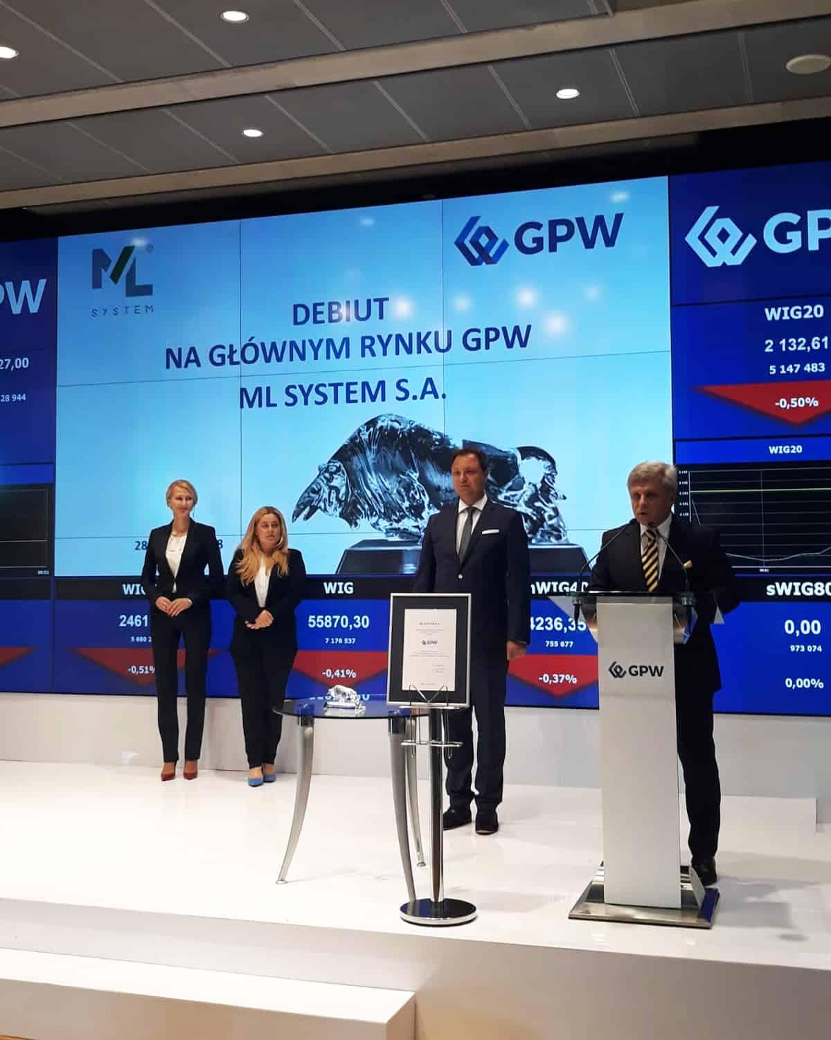 ML System debiutuje na GPW