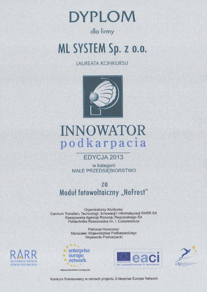 Innowator podkarpacia 2013